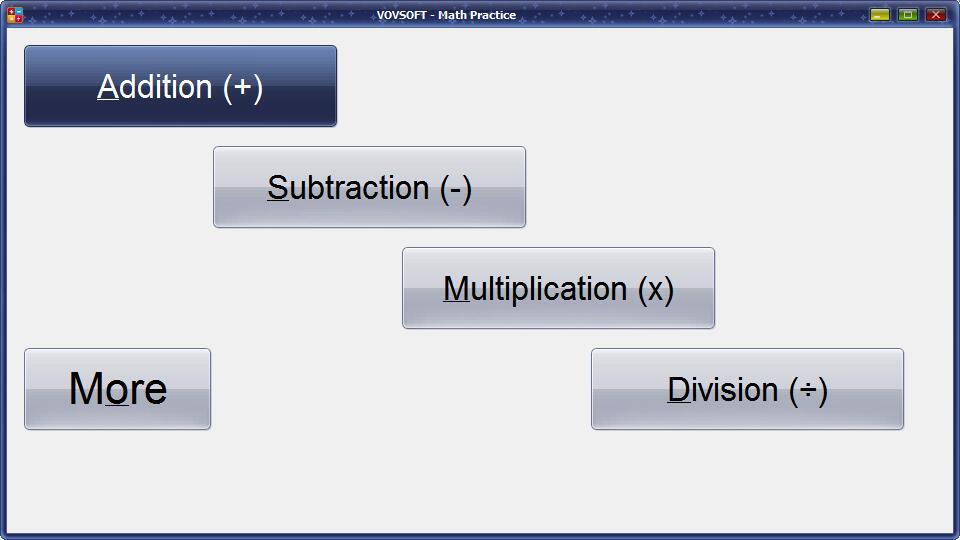 VovSoft Math Practice截图1