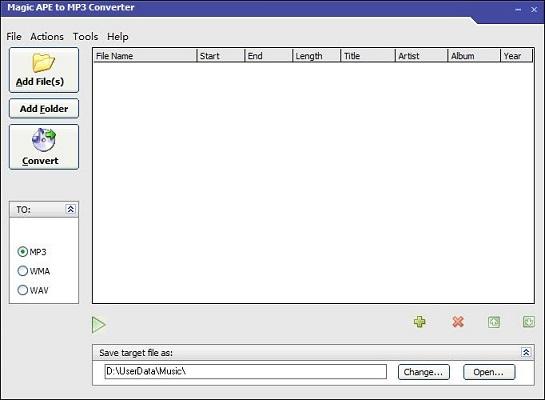 Magic APE to MP3 Converter截图