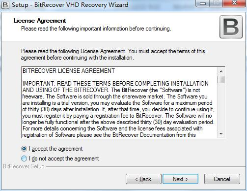BitRecover VHD Recovery Wizard截图