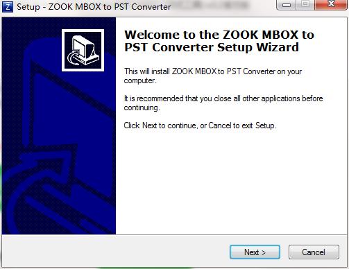 ZOOK PST to MBOX Converter截图