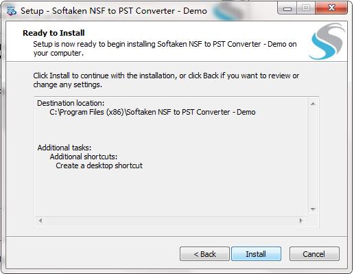 Softaken NSF to PST Converter截图