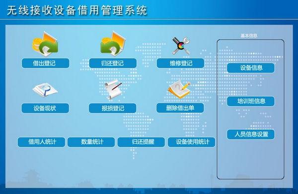 无线接收设备借用管理系统截图1