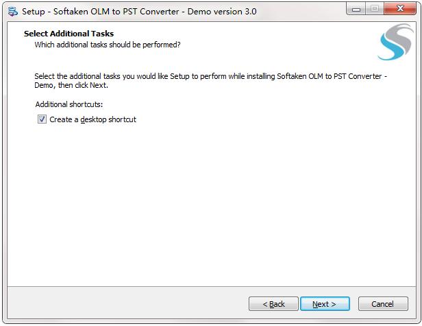 Softaken OLM to PST Converter截图