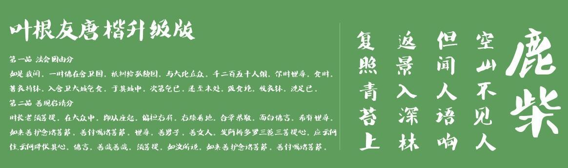 叶根友唐楷简截图