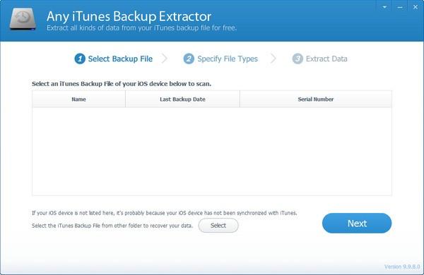 Any iTunes Backup Extractor截图1