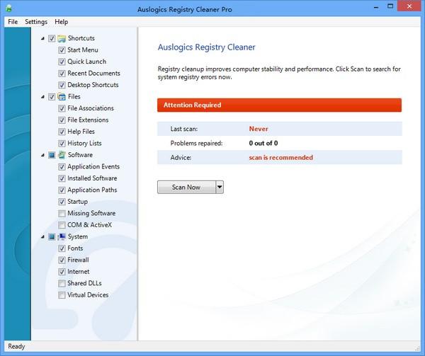 Auslogics Registry Cleaner Pro截图