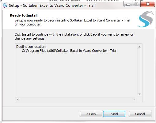 Softaken Excel to VCard Converter截图