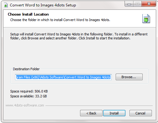 Convert Word to Images 4dots截图