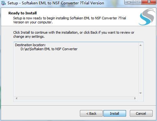 Softaken EML to NSF Converter截图