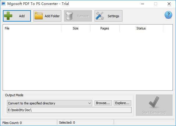 Mgosoft PDF To PS Converter截图1