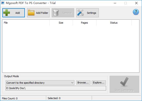 Mgosoft PDF To PS Converter截图