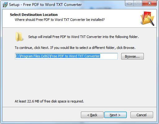 Free PDF to Word TXT Converter截图
