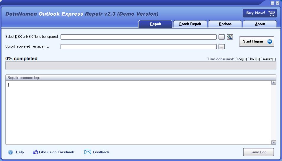 DataNumen Outlook Express Repair截图1