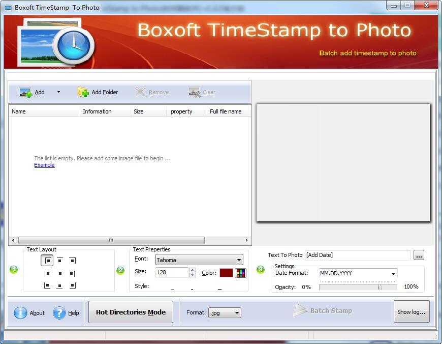 Boxoft TimeStamp to Photo截图1