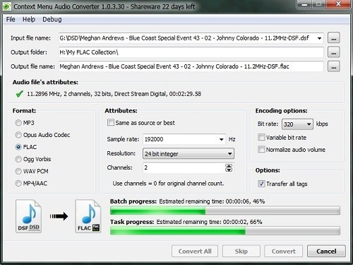Context Menu Audio Converter截图