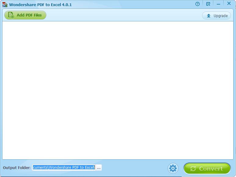 Wondershare PDF to Excel截图1