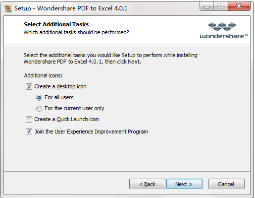 Wondershare PDF to Excel截图