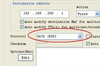 以太网发包工具(xcap)截图