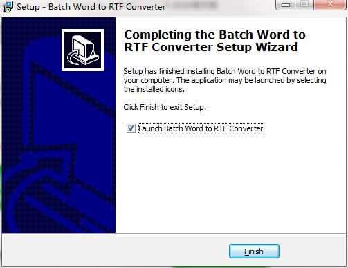 Batch Word to RTF Converter截图