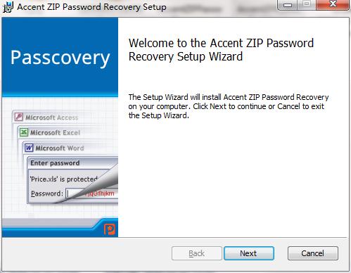 Accent ZIP Password Recovery截图