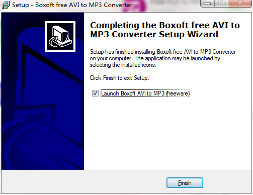 Boxoft free AVI to MP3 Converter截图