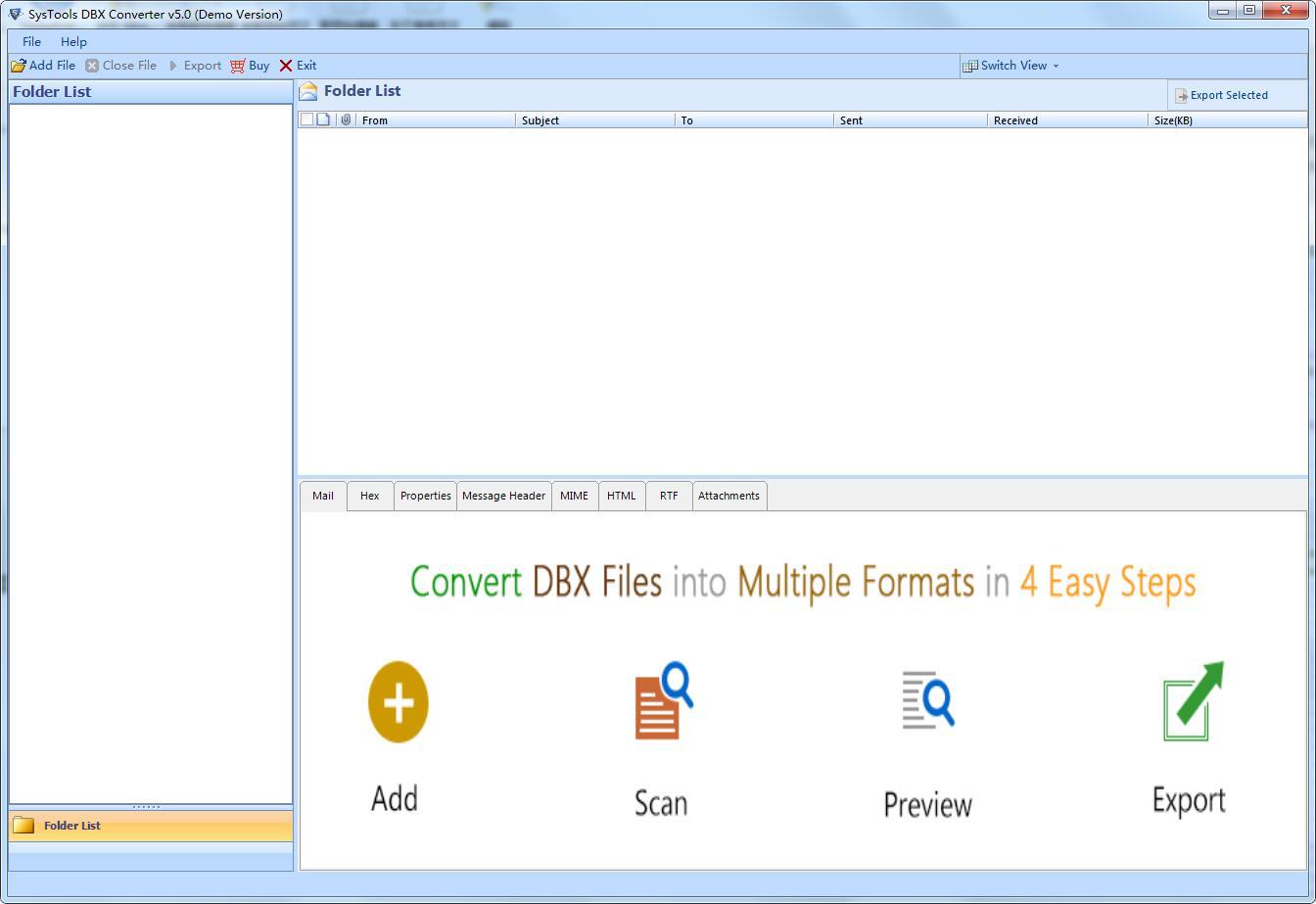 SysTools DBX Converter截图1