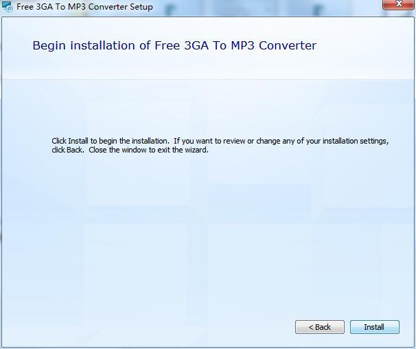 Free 3GA To MP3 Converter截图