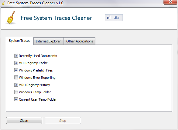 Free System Traces Cleaner截图1