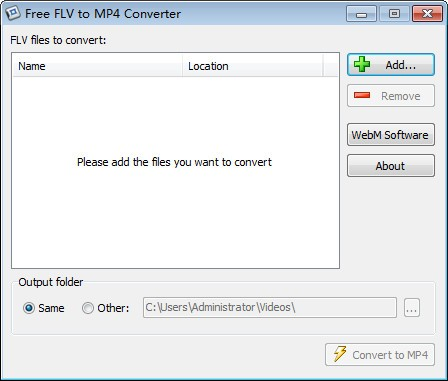 Free FLV to MP4 Converter截图1