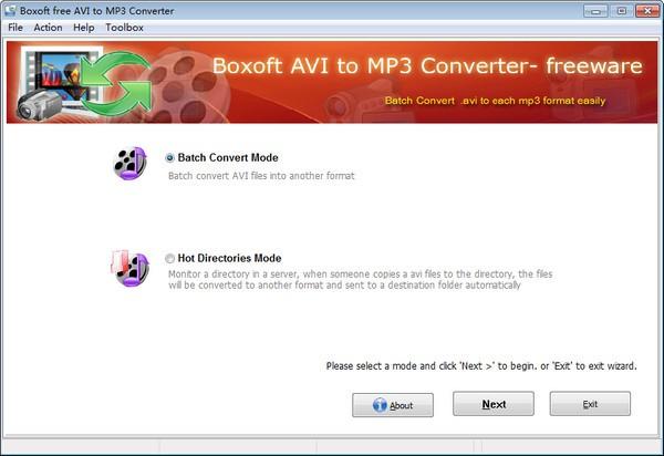 Boxoft free AVI to MP3 Converter截图1