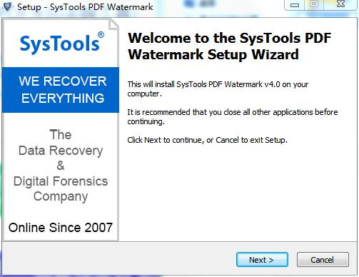 SysTools PDF Watermark截图