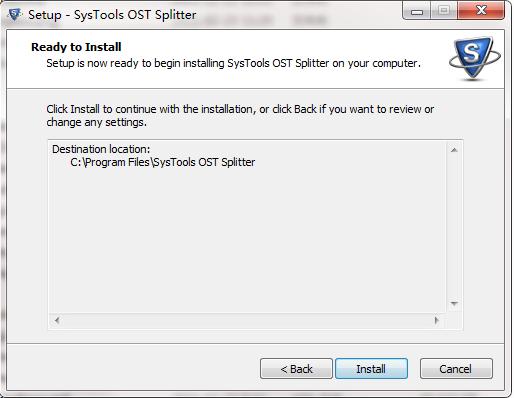 SysTools OST Splitter截图