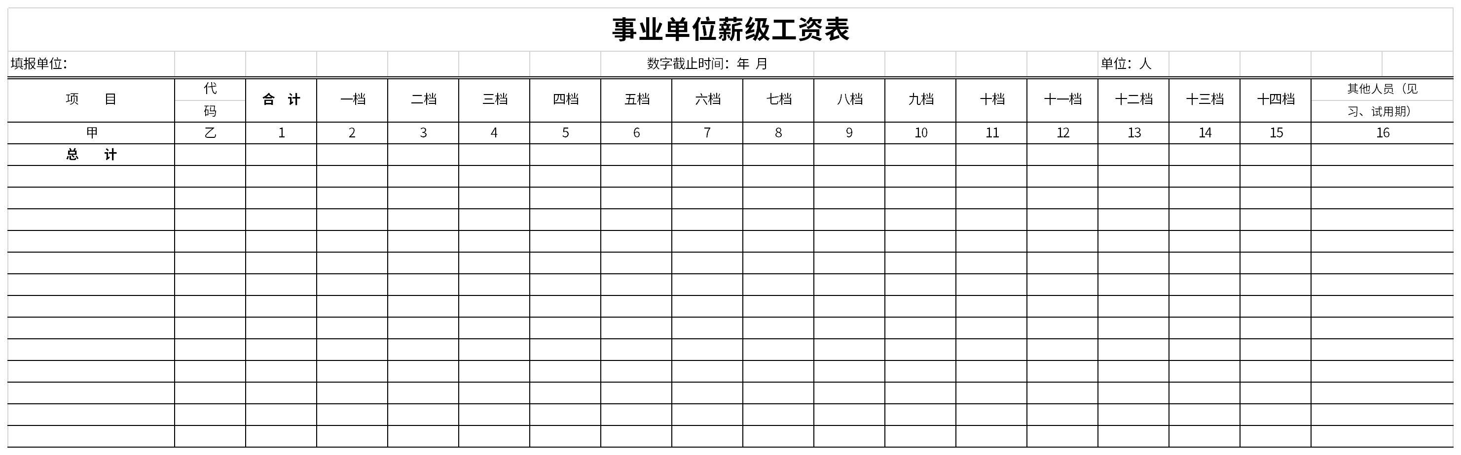 事业单位薪级工资表截图