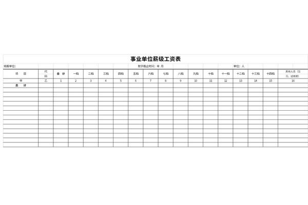 事业单位薪级工资表截图1