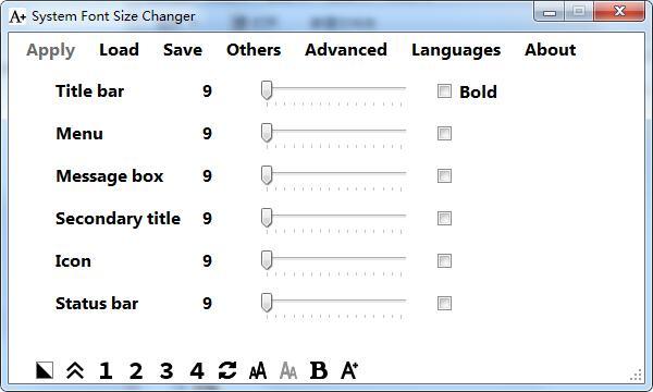 System Font Size Changer截图