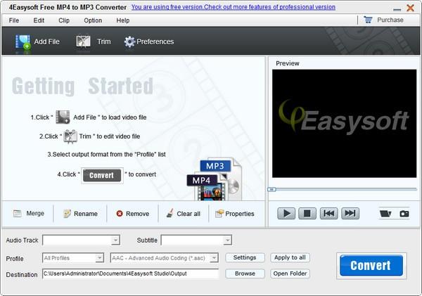 4Easysoft Free MP4 to MP3 Converter截图1