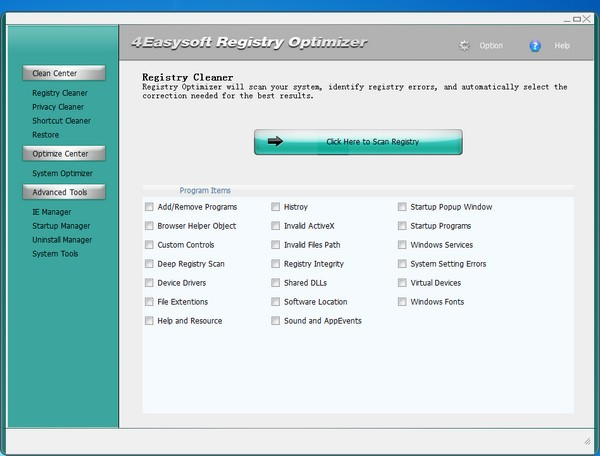 4Easysoft Registry Cleaner截图1