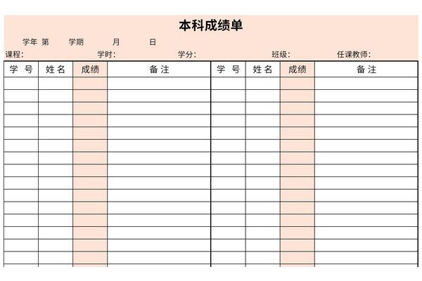 本科成绩单截图1