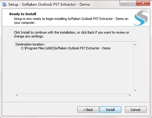 Softaken Outlook PST Extractor截图