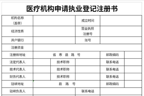 医疗机构申请执业登记注册书截图1