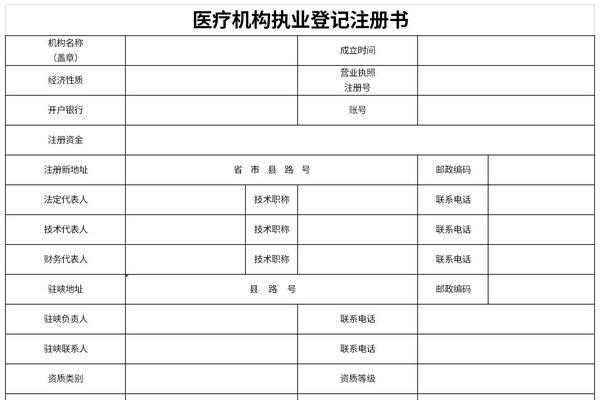 医疗机构执业登记注册书截图1