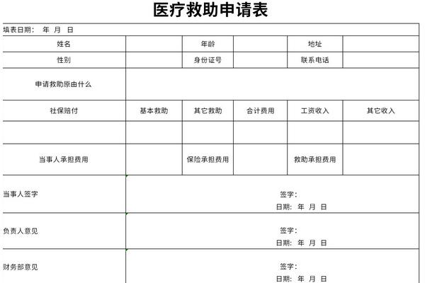 医疗救助申请表截图1