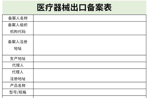 医疗器械出口备案表截图1
