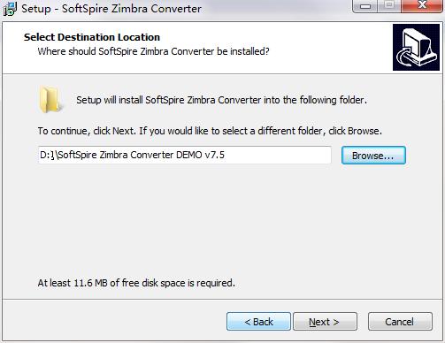 SoftSpire Zimbra Converter截图