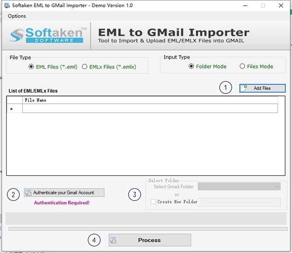 Softaken EML to GMail Importer截图1