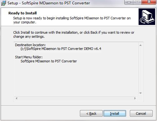 SoftSpire MDaemon to PST Converter截图