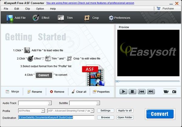 4Easysoft Free ASF Converter截图1