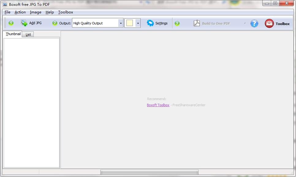 Boxoft Free JPG to PDF截图1