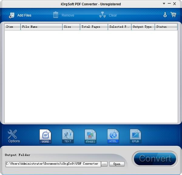 iOrgSoft PDF to Word Converter截图1