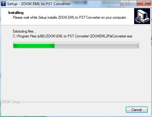 ZOOK EML to PST Converter截图